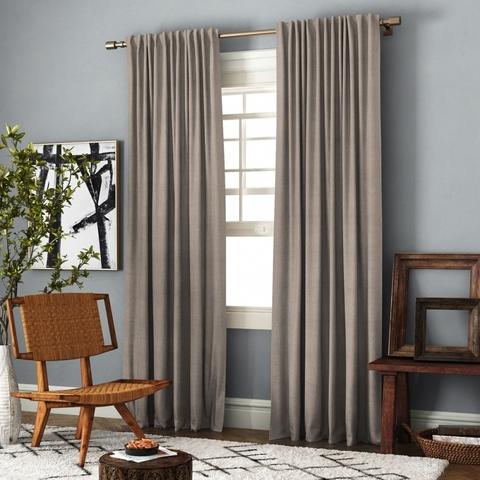 Комплект штор с подхватами Джейн бежево-коричневый