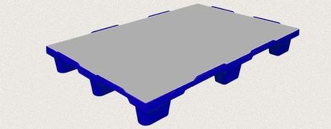 Поддон пластиковый сплошной 1200x800x150 мм. Цвет: Синий