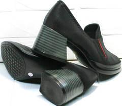 Красивые туфли на невысоком каблуке 6 см весна осень H&G BEM 167 10B-Black.