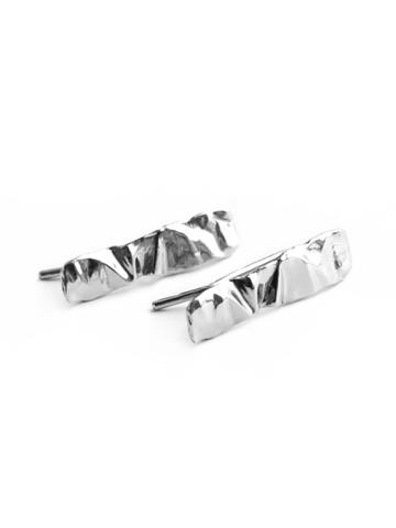 Серебряные серьги-зажимы