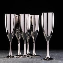 Набор бокалов для шампанского «Серебро», 170 мл, 6 шт, фото 1