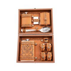 Подарочный набор: фляга 9 унций и стаканчики., фото 3