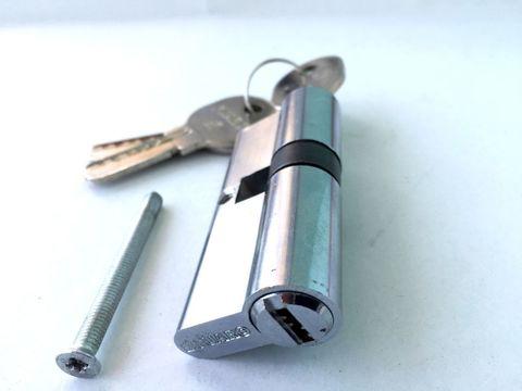 Личинка (Цилиндрический механизм)R600/80mm СР хром (30+10+40 или 35*45) кл./кл. перфокарта