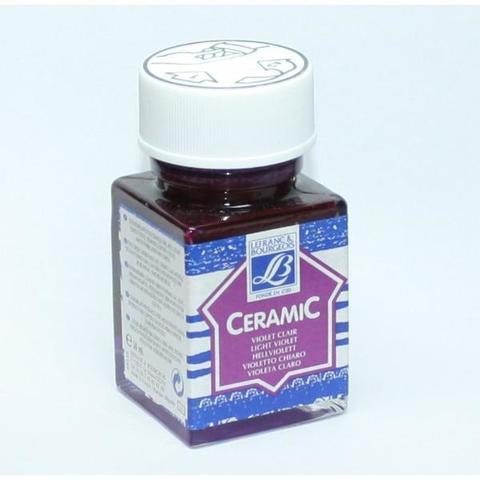Краска по стеклу и керамике Lefranc&Bourgeois CERAMIC, 50 мл, 623 светлый фиолетовый