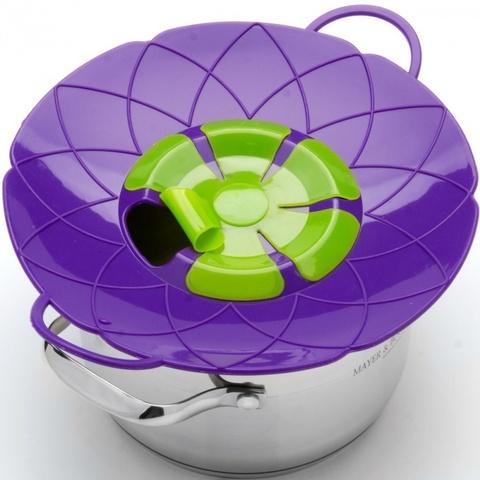 Силиконовая крышка Невыкипайка (фиолетовый)