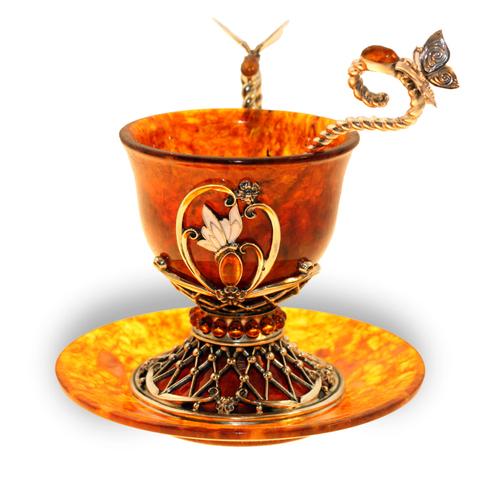 Чашка кофейная из янтаря «Екатерина»