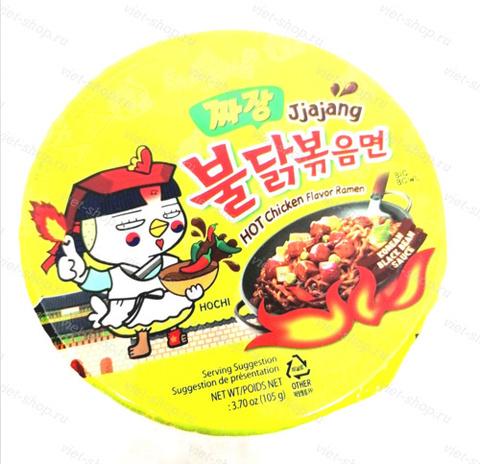 Корейская лапша со вкусом острой курицы и соуса чаджан Samyang, 105 гр.