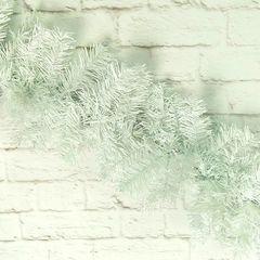 Гирлянда хвойная Белая, 250 веток, 2,7м, 1 шт.