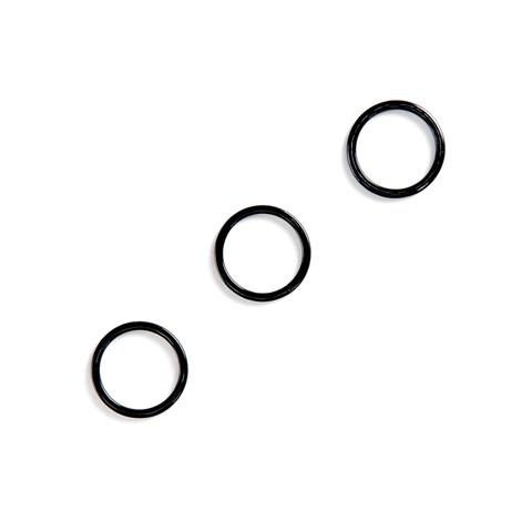 Кольцо для бретели черное 15мм (металл)