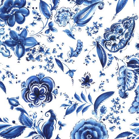 Синие узоры на белом фоне