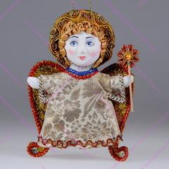 Ёлочная игрушка Ангел с цветочком
