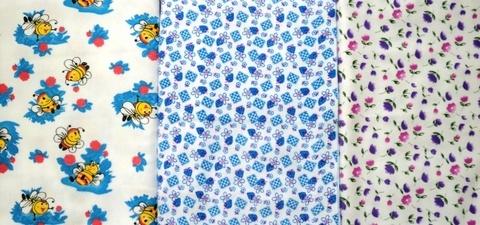 Ситцевая тонкая пеленка 80х100 см
