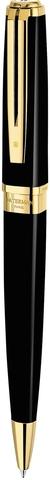 Шариковая ручка Waterman Exception, цвет: Slim Black GT, стержень: Mblue123