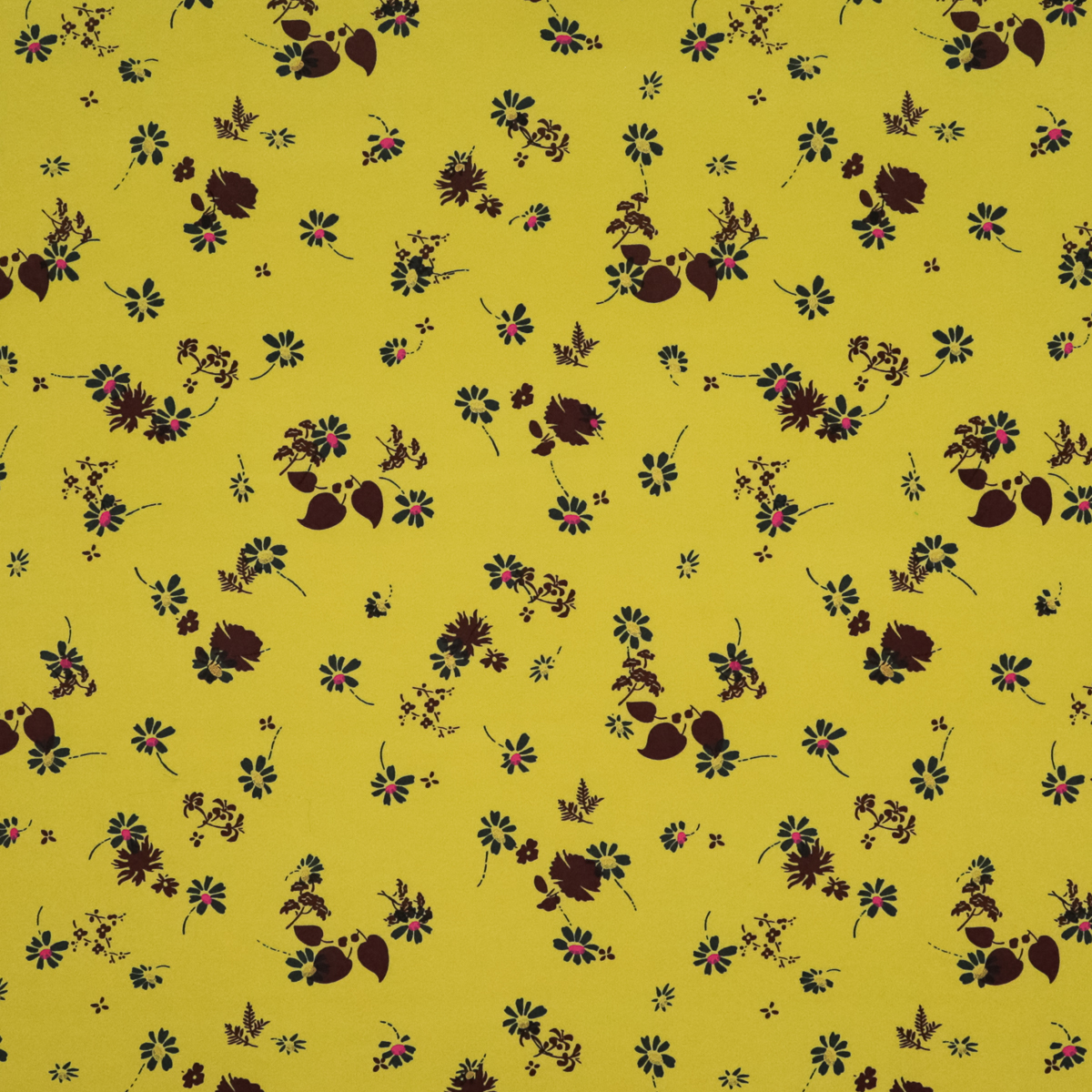 Плотная пальтовая ткань с цветами