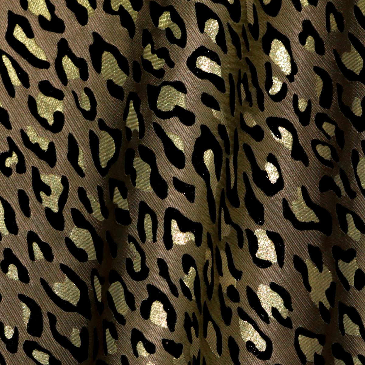 Мерцающий жаккард с леопардовыми пятнами