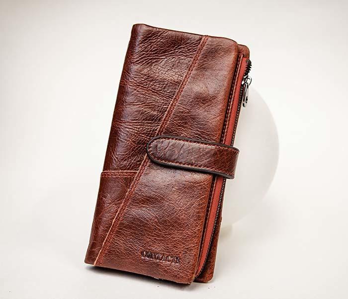 WL252-5 Кожаный клатч красного цвета