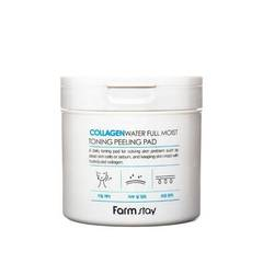 Отшелушивающие и очищающие пэды для лица Farmstay Collagen Water Full Moist Toning Peeling Pad 70ea