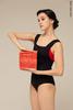 Комплект: купальник Квадрат черный + Топ на лямках
