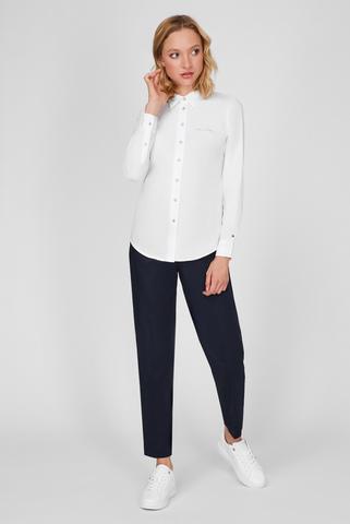 Женская белая рубашка CO REGULAR TOMMY EMB Tommy Hilfiger