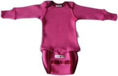 Боди/кофта с длинным рукавом ManyMonths, Розовый (шерсть мериноса 100%)