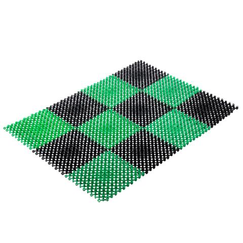 Коврик ТРАВКА, черно-зеленый, без подложки, 42*56 см