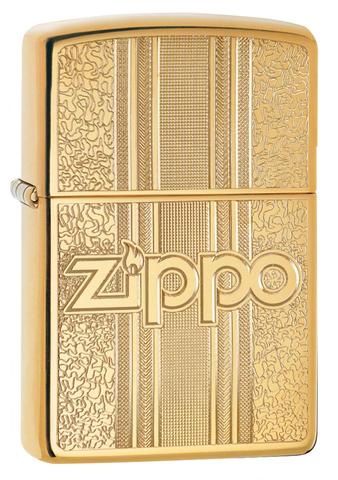 Зажигалка Zippo Classic с покрытием High Polish Brass, латунь/сталь, золотистая, 36x12x56 мм