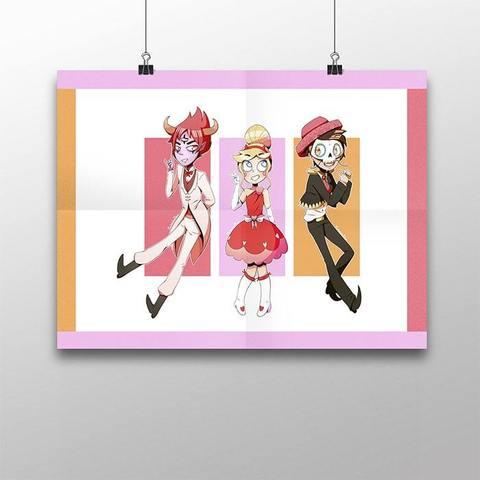 Плакат с Марко, Томом и Стар