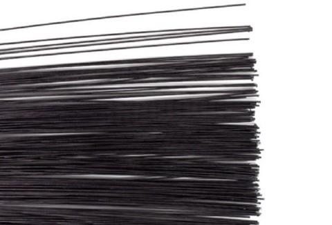 Проволока глянцевая в обмотке, цвет Чёрный, 1мм.