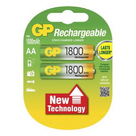 Аккумуляторы GP R-06/2bl 1800mAh Ni-MH