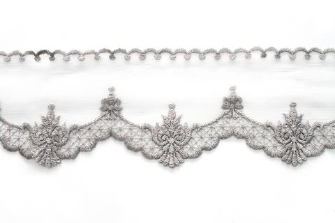 Кружево серебро,8 см