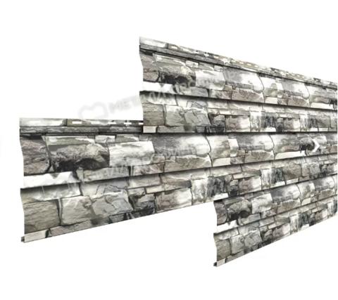 Металлический сайдинг корабельная доска Ecosteel Белый Камень 0,5 мм