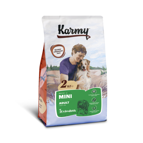Karmy Mini Adult Телятина, 2кг.
