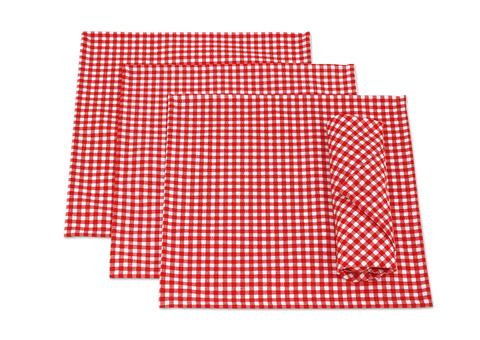 Набор салфеток Кимберли красный