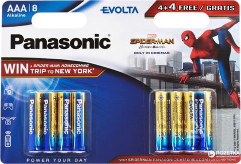 Батарейки Panasonic Alkaline Evolta LR03, AAA (8/48) BL