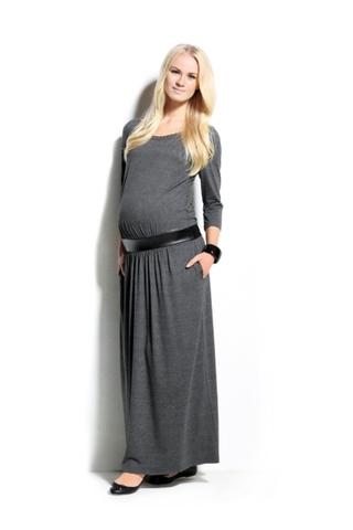 Платье для беременных 05395 серый