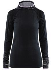 Элитная беговая рубашка Craft Core Fuseknit с капюшоном женская