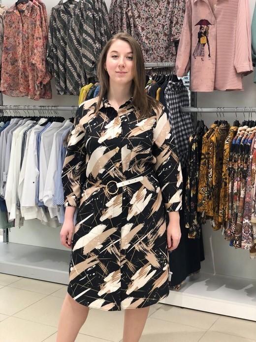 Платье Exxpose Line 0520 три пуговицы палитра 3/4 (В20)