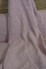 Ткань льняная, с эффектом мятости, цвет: светлая пыльная роза