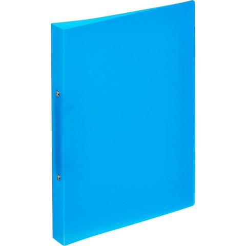 Папка на 2-х кольцах Attache 32 мм синяя до 170 листов (пластик 0.45 мм)