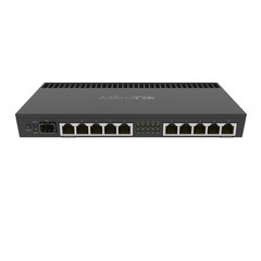 Mikrotik RB4011iGS+RM - маршрутизатор 1.4ГГц, 4 ядра, 1GB RAM, 512MB NAND, 10x 10/100/1000 LAN, 1 SFP+