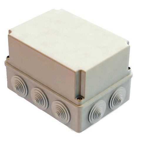 Распаячная коробка ОП 190х140х120мм, крышка, IP55, 10 гермовводов, инд. штрихкод, TDM
