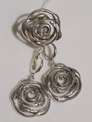 Верба(кольцо + серьги из серебра)
