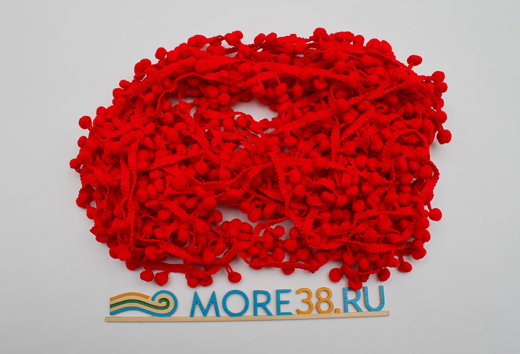Помпоны красные