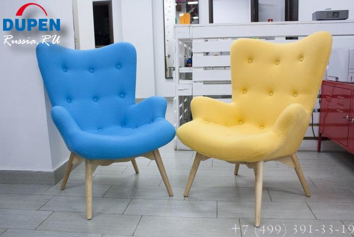 Кресло DC917 blue-голубое и Кресло DC917 yellow-желтое