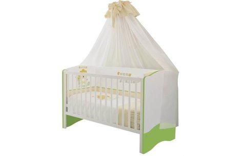 Кроватка детская Polini kids Simple 140х70 белый-лайм