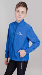 Детская беговая Ветровка Nordski Jr. Motion Vasilek/Dark blue