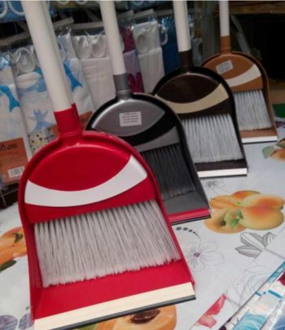 Комплект для уборки Лентяйка (щетка и совок с длинными ручками)