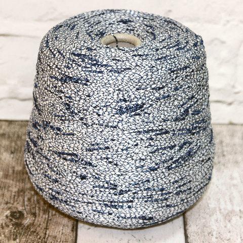 Вискоза ленточная  CASA DEL FILATO / PALMAS 240 бело-синий