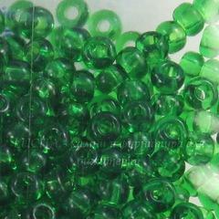 50120 Бисер 6/0 Preciosa прозрачный темный весенне-зеленый