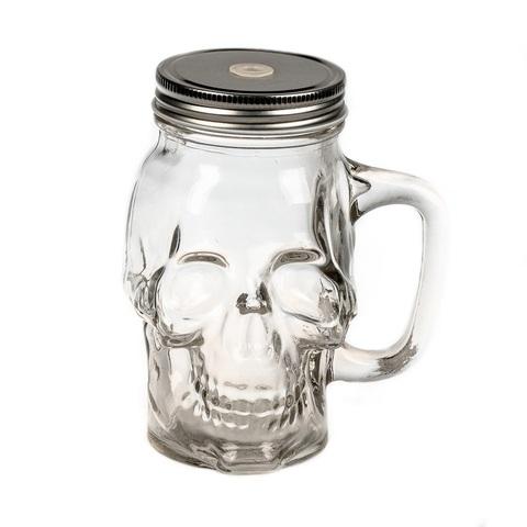 Баночка-череп для смузи и коктейлей